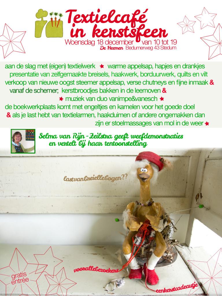 flyer kerst textielcafe